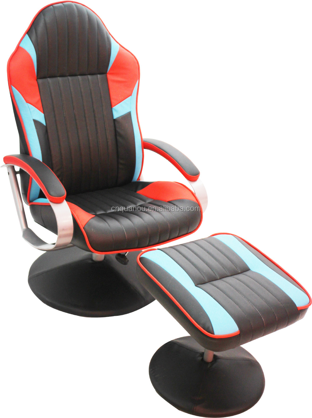 recliner gaming chair dining table covers design workwell racing with ottoman office car