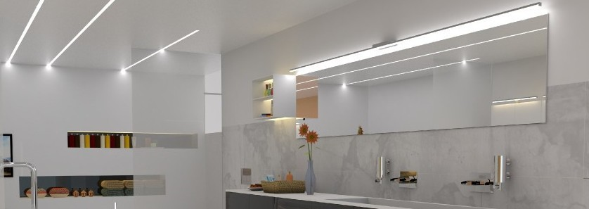 Linear 15mm Recessed Aluminum Floor Lighting Profile For