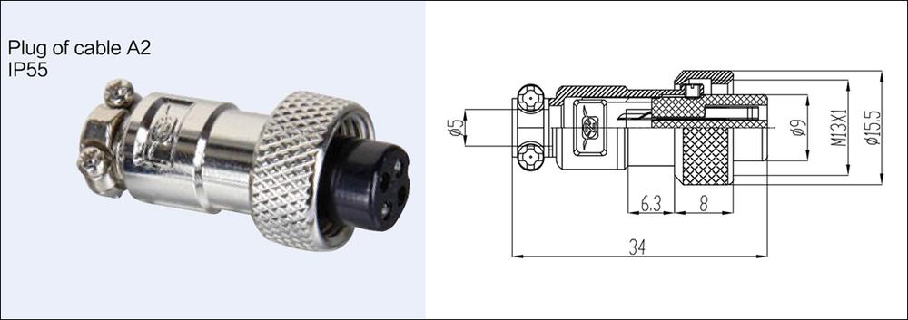 Aviation Plug 4 Pins Male Female Panel Metal Wire
