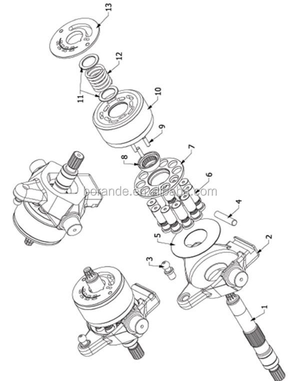AP2D36LV1RS7 Hydraulics Parts For Uchida Rexroth Hydraulic