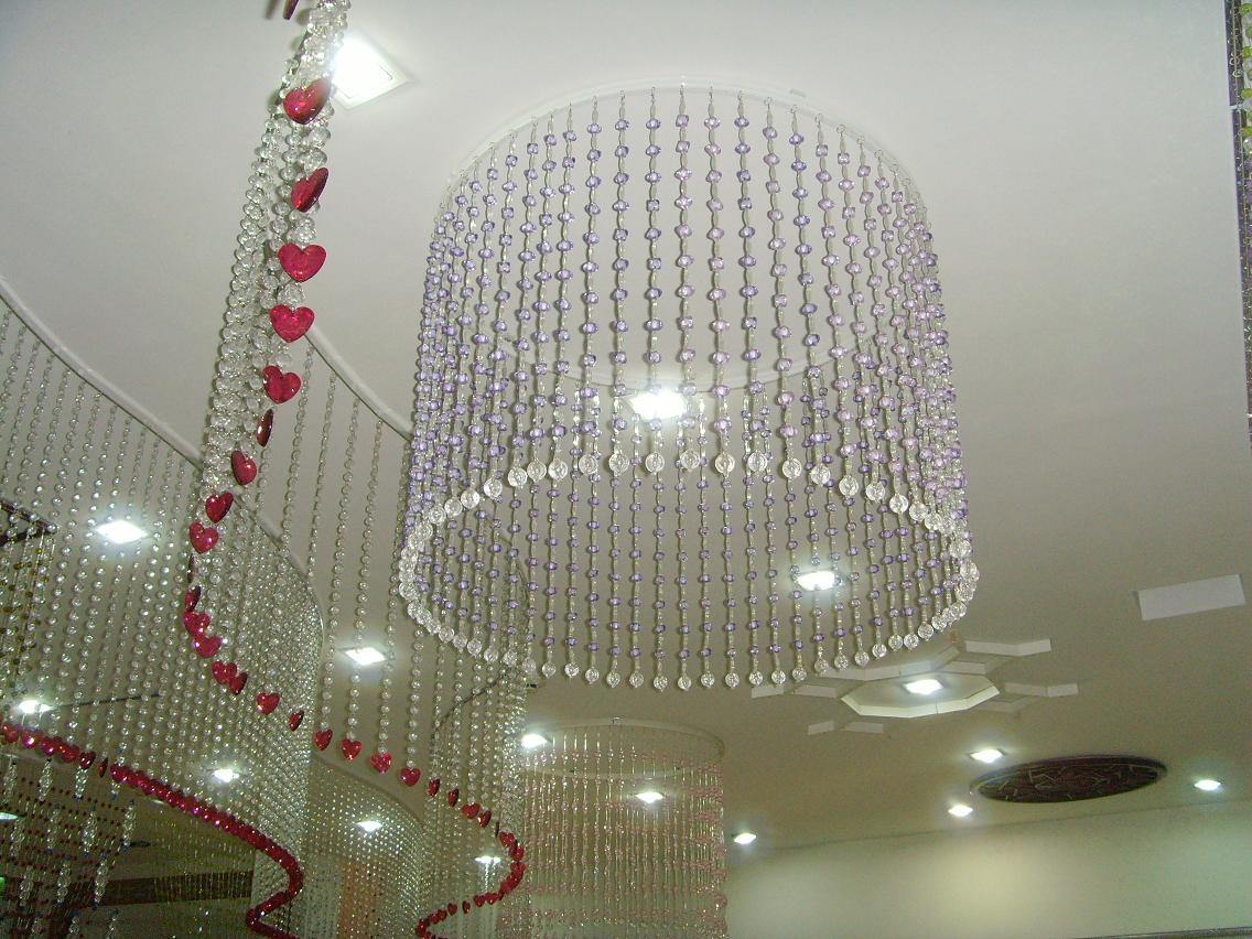 Crystal Glass Beads Curtain For Hotel Office Or Home Decor Hanging
