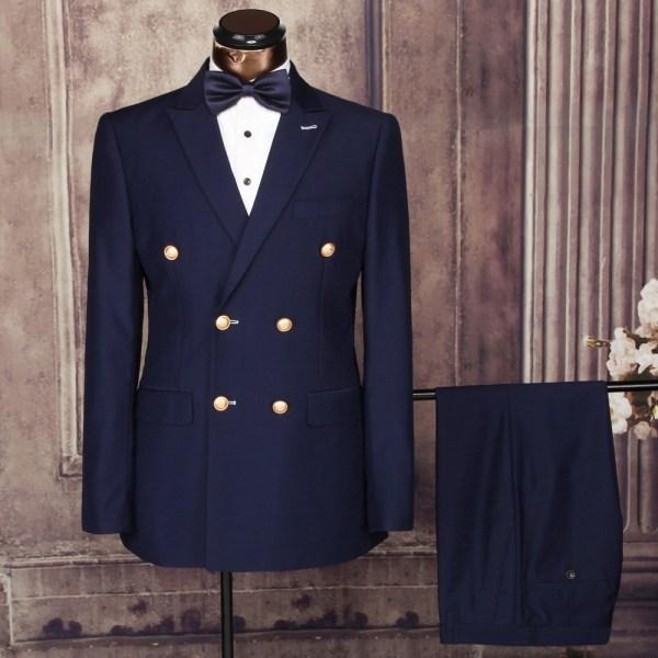 2016 Double-breasted Cheap Men Suit Design