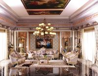Luxury French Baroque Style Living Room Furniture Sofa Set ...
