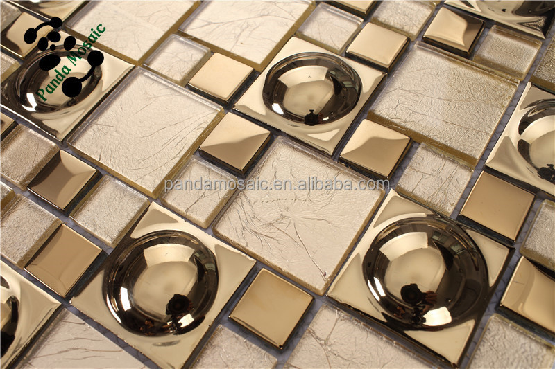 Smg03 Lowes Mirror Tiles Self Adhesive Wall Tiles Gold Color Glass Mosaic Tile Buy Gold Color