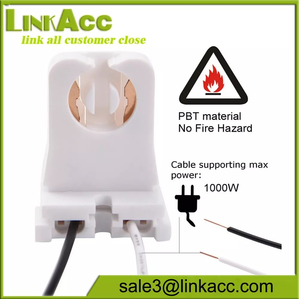 hight resolution of non shunted t8 lamp holder socket tombstone for led fluorescent tube replacements turn type