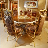 Luxury French Home Dining Room Golden Food Service Trolley ...