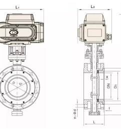 motorized anti corrosize flange butterfly valve with reguating 4 20ma actuator [ 1000 x 791 Pixel ]