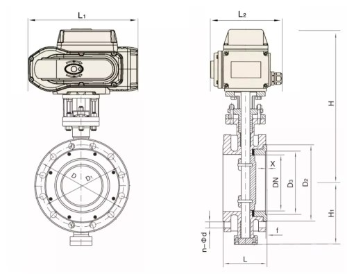 small resolution of motorized anti corrosize flange butterfly valve with reguating 4 20ma actuator