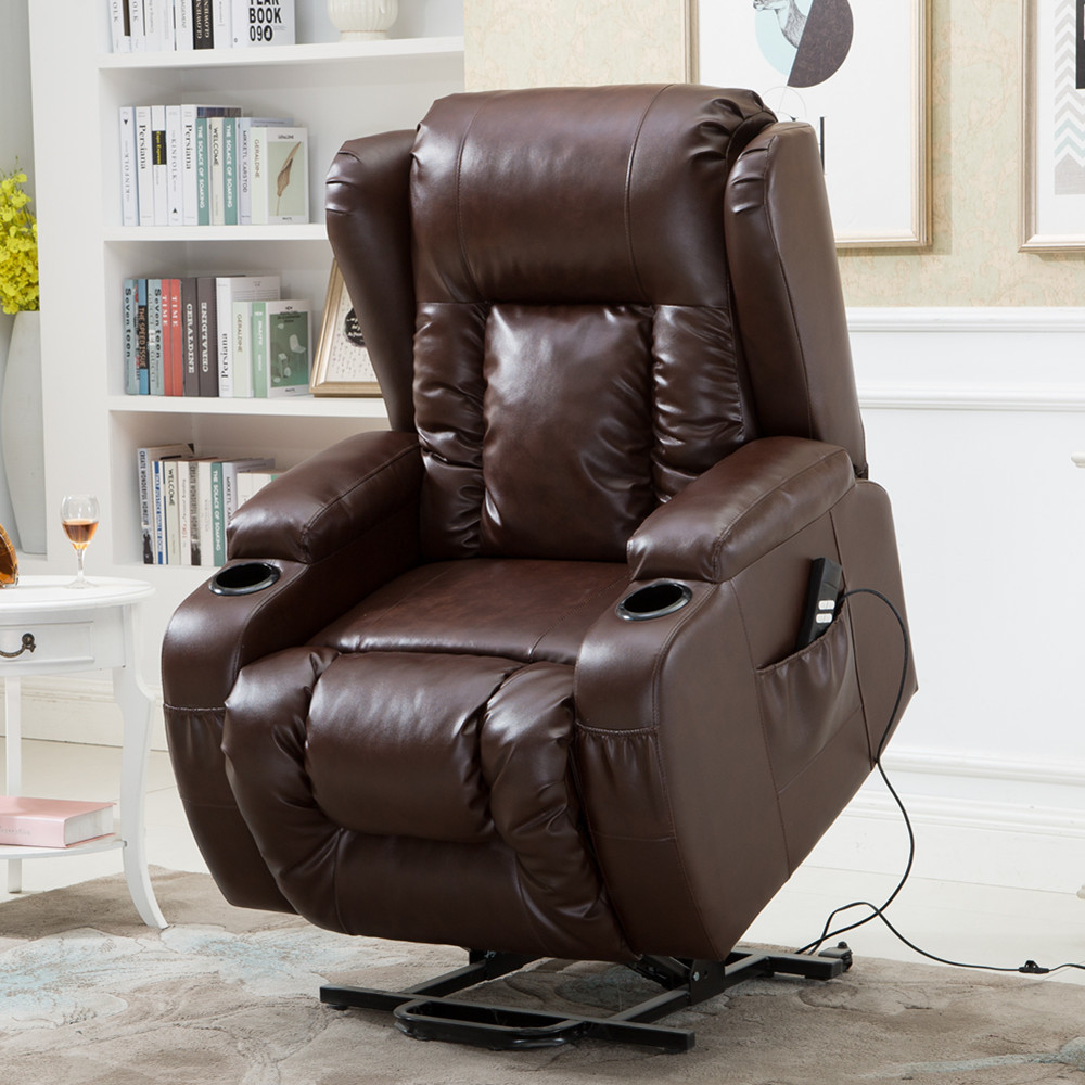 Okin Lift Chair Electric Power Lift Chair Recliner With Okin Kaidi Motor With Massage Heat Buy Lift Recliner Chair Sofa Electric Leather Recliner Chairs Heating