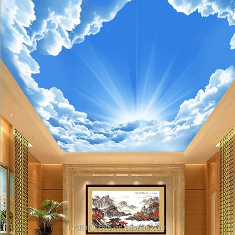 Gambar Wallpaper Dinding 3d Ceiling Proof Theme Wallpaper Mural Customize Full Hd
