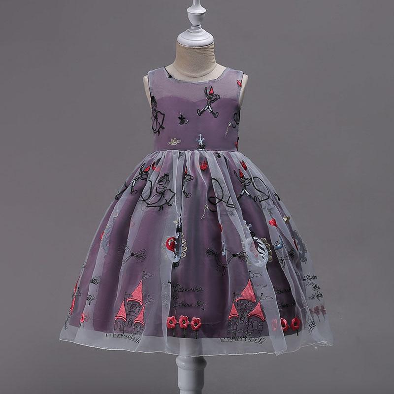 Vestido del bebé vestido de la princesa de la impresión Floral para ...