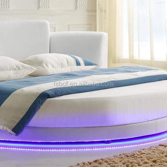 lit led rond en cuir blanc design de lit double pour adultes cy001 1 buy conceptions de lit double indien conceptions de lit double en bois lit rond