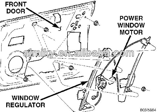 High Quality Manual Window Regulator For Toyota Hiace Rh20