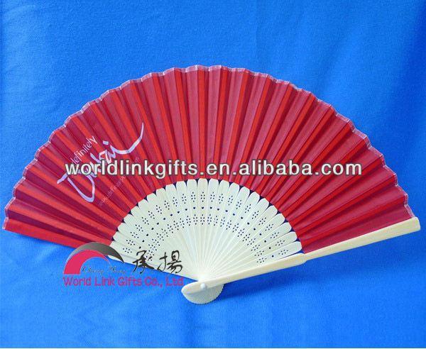 Whole Hot Pink Wedding Favors Silk Invitation Fan