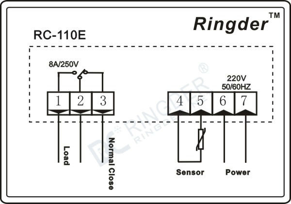 Led Microcomputer Temperature Controller Rc-110e Heating