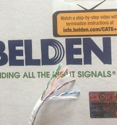 get quotations belden 2412 009100 white cat 6 100 feet [ 1000 x 822 Pixel ]