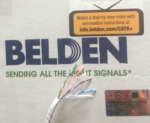 small resolution of get quotations belden 2412 009100 white cat 6 100 feet
