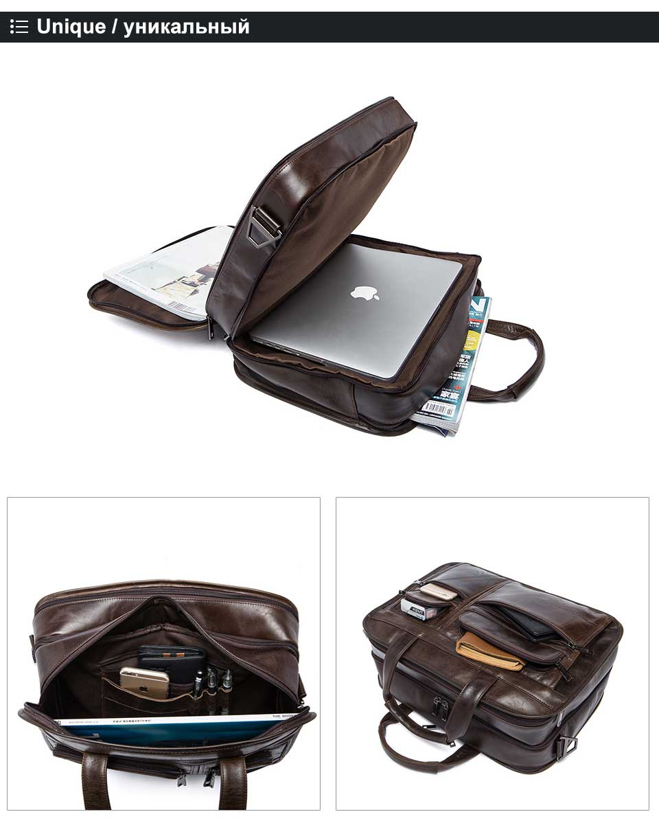HTB19dipg4TI8KJjSspiq6zM4FXa0 WESTAL men's genuine leather bag for men's briefcase office bags for men leather laptop bag document business briefcase handbag