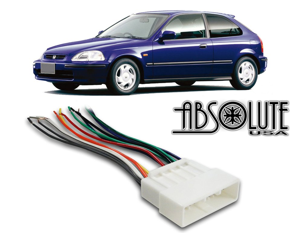 medium resolution of get quotations stereo wire harness honda civic 96 97 98 1998 aftermarket radio stereo