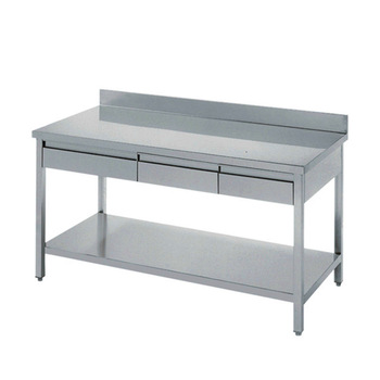 kitchen work tables commercial faucets with sprayer stainless steel industry table drawers bench