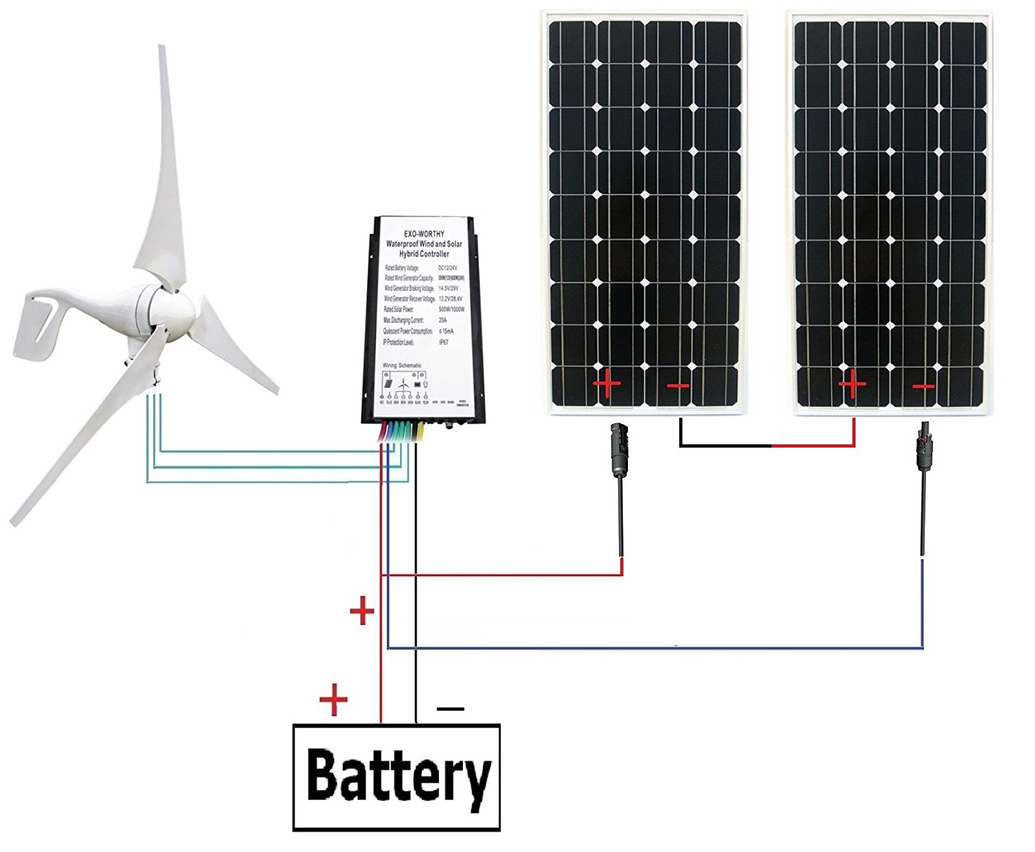 hight resolution of eco worthy 24 volts 600 watts wind solar power 12v 24v 400w wind