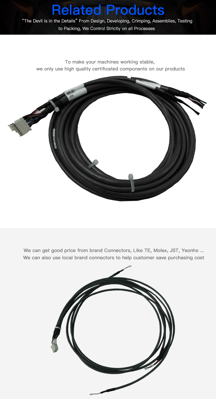 Cable Assembly 6 Pin Mini Din To Jst 51067 3 Pin And Molex