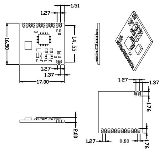 G-nicerf 433/470/868/915 Mhz Fsk Rf Transmitter And