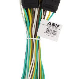 get quotations abn trailer wire extension 8 foot 4 way 4 pin plug [ 825 x 1500 Pixel ]