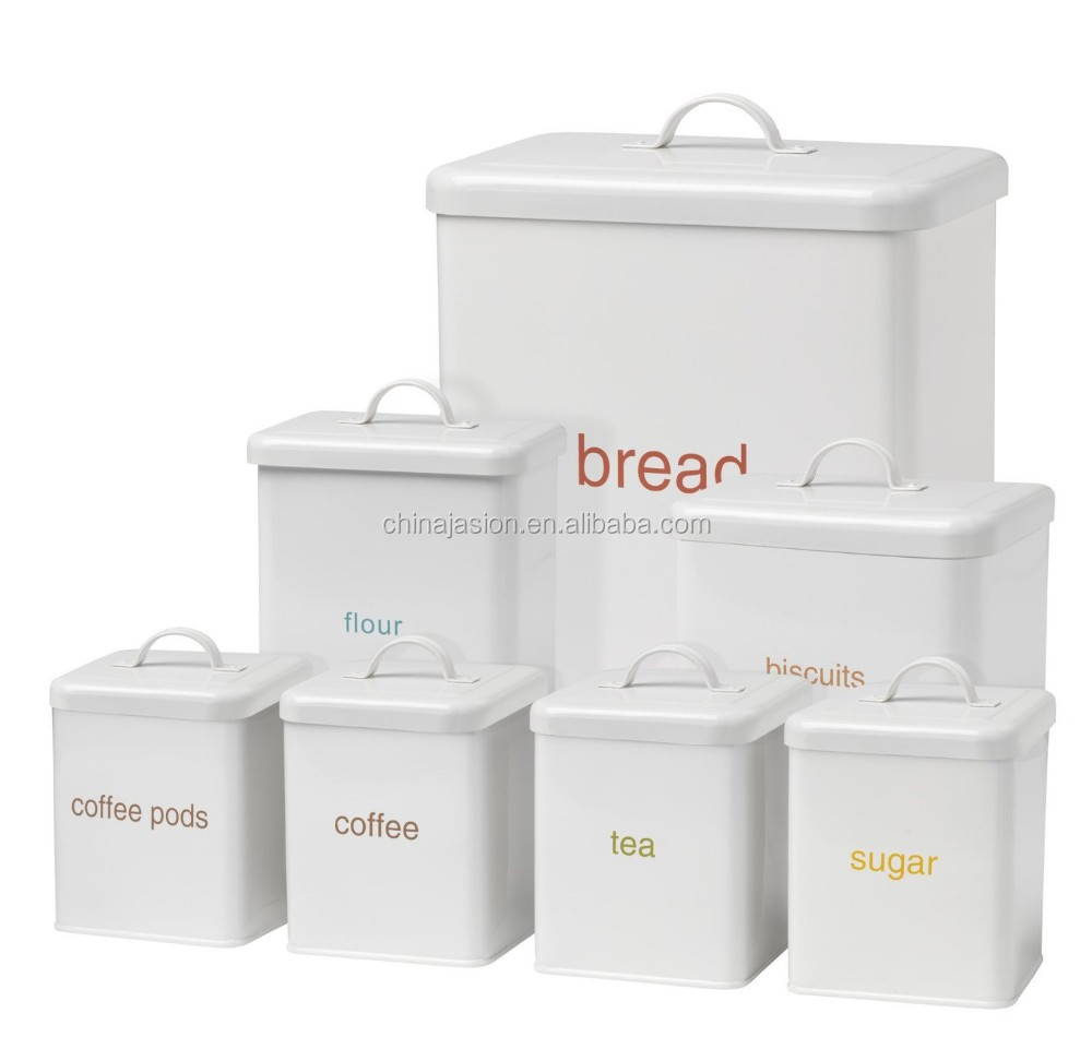 ceramic kitchen canisters sink manufacturers set of 5 vintage stackable storage bread bin ...
