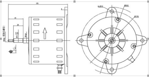 China Market Indoor Units Split Air Conditioner Fan Motor