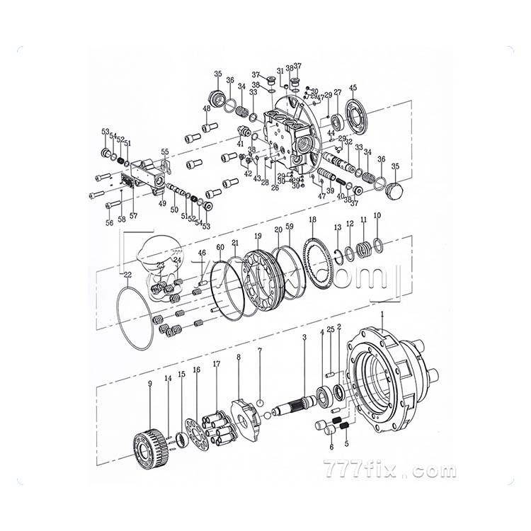 MAG-85VP-1200 hydraulic motor unit∂s, View hydraulic