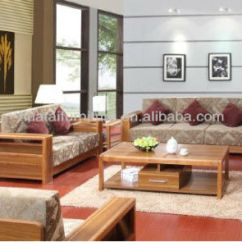Living Room Fabrics Best Colors To Paint Walls Fabric Furniture Sofa Nature Solid Wood Set
