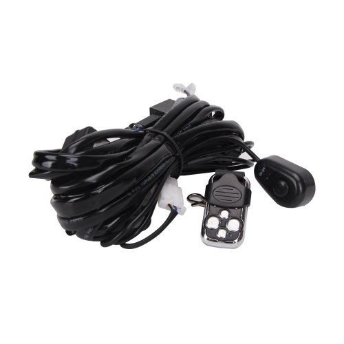 small resolution of get quotations glotech led light bar wiring harness kit 12v 40a fuse relay on off