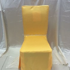 Yellow Chair Covers Metal With Wood Seat Polyester Jacquard Dining Room Cover Color Banquet Hall Customized