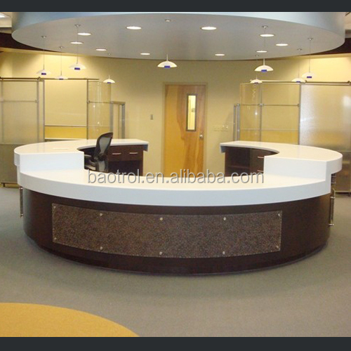 Acrylic Material Small Office Reception Desk With Led