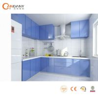 Modern Kitchen Cabinet European Style,Colored Glass ...