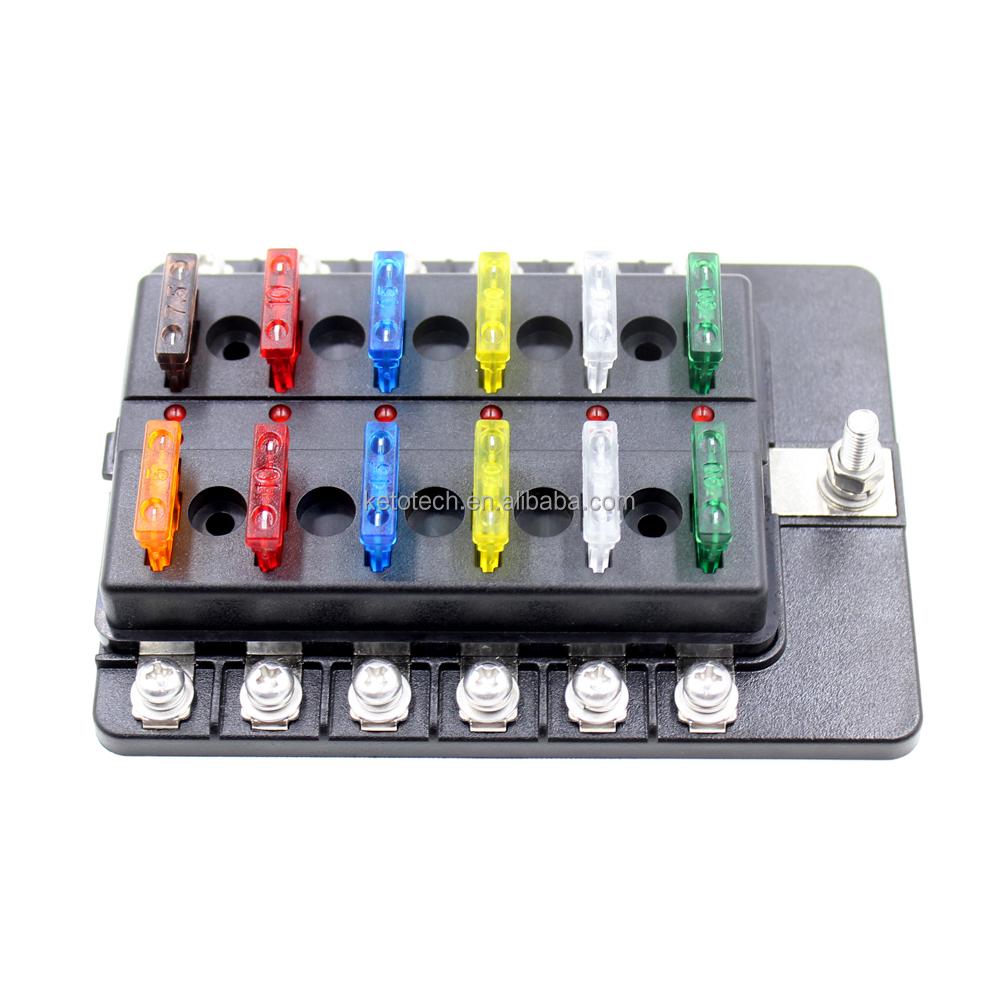 medium resolution of 24v waterproof 12 way circuit boat blade fuse box