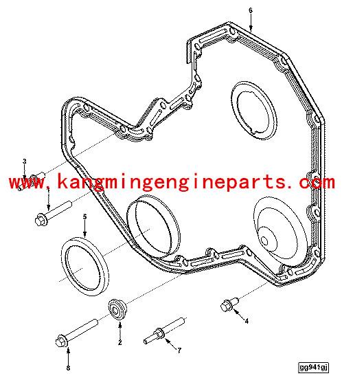 Crankshaft Front Oil Seal 3935959 For 3935959 Marine Parts