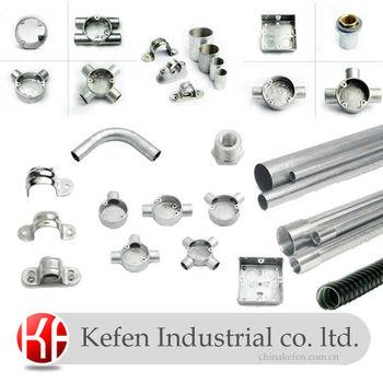 Iec En50086 Electrical Steel Rigid Conduit Fitting With