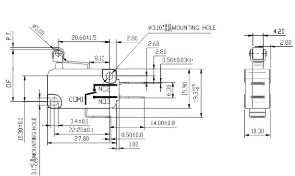 Ip67 Enec Ul Micro Switch T85 5e4,Zing Ear Micro Switch