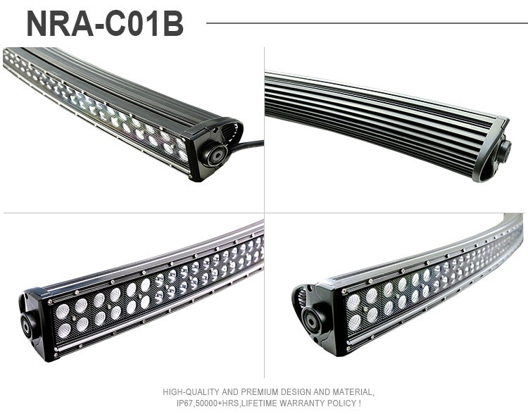 40 Inch 240w Curved Led Light Bar Combo Beam Work Off Road