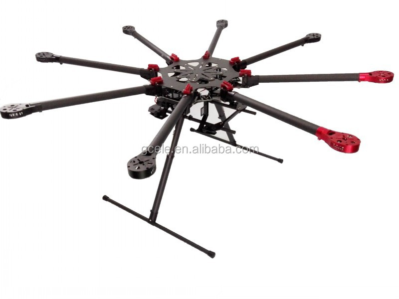 Complete Drone Carbon Fiber Gf-1000 V8 Octocopter With