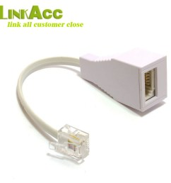 lkcl640 bt socket to rj11 plug 4 pin telephone phone cable adaptor converter uk [ 1000 x 1000 Pixel ]