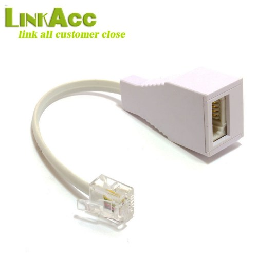 small resolution of  lkcl640 bt socket to rj11 plug 4 pin telephone phone cable adaptor converter uk