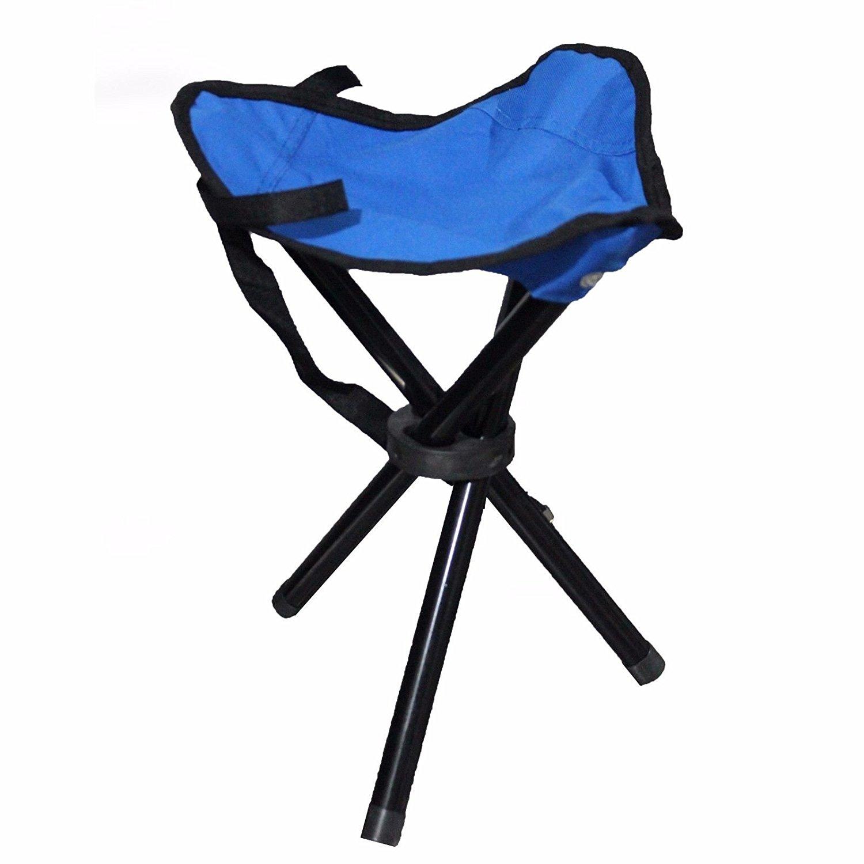 tall fishing chair marais knock off buy chairs lightweight portable folding tripod stool pocket slacker camping color blue
