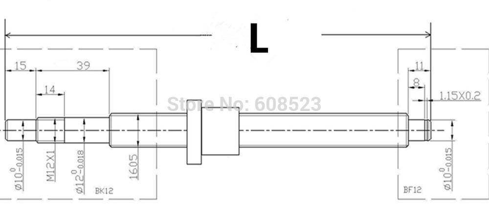 Linear Rail Hgh20 Series Rm/sfu1605-600mm Ballscrew Set+bk