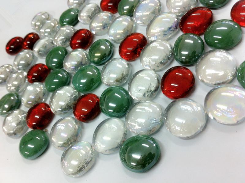 Volcano Chunks Mix Flat Glass Marble Gems  Buy Glass Gems