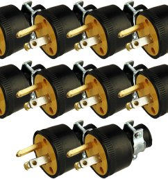 get quotations black duck brand male extension cord replacement electrical plugs end 10 male electrical plugs end [ 2560 x 1907 Pixel ]