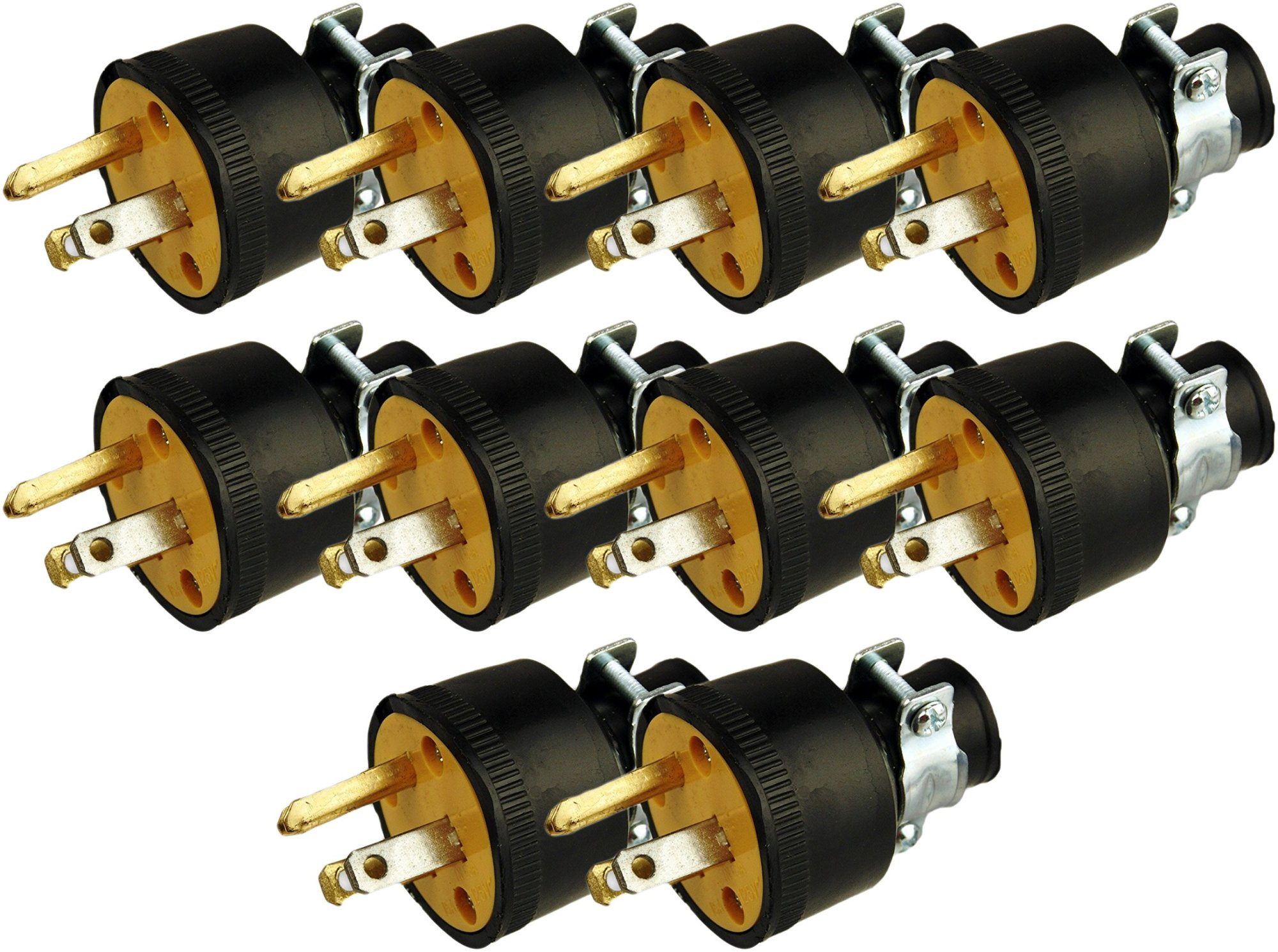 hight resolution of get quotations black duck brand male extension cord replacement electrical plugs end 10 male electrical plugs end