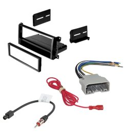 car stereo radio cd player receiver install mounting kit wire harness radio antenna adapter for select [ 1000 x 1000 Pixel ]
